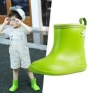 兒童雨鞋寶寶軟雨靴男童女學生幼兒防滑輕便水鞋 洛小仙女鞋