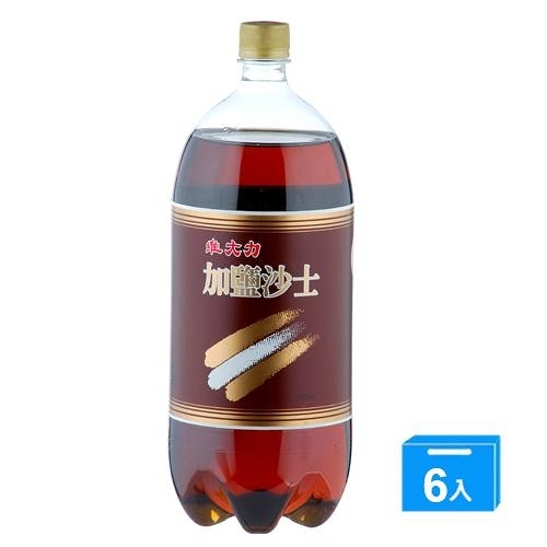 維大力加鹽沙士寶特瓶2000ml*6入/箱【愛買】