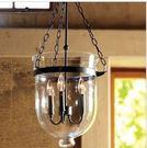設計師美術精品館佐森燈飾 美式鄉村簡約復古玻璃吊燈 藝術透明單頭餐廳過道燈具