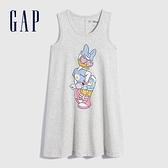 Gap女童 Gap x Disney 迪士尼系列純棉洋裝 700542-淺灰色