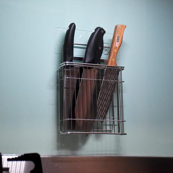 壁掛式菜刀架 刀具架 刀座 304不鏽鋼無痕掛勾 易立家生活館 舒適家企業社