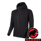 【MAMMUT 長毛象】男 GRANITE SO 防風軟殼連帽外套『黑』1011-00321 戶外 登山 外套 保暖 禦寒