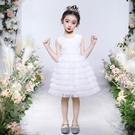 女童禮服 女童洋裝蛋糕裙夏裝禮服兒童裙子洋氣女孩蓬蓬紗裙小童公主裙夏-Ballet朵朵