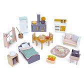 【美國Tender Leaf Toys】溫馨小屋家具套組(娃娃屋配件)