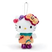 小禮堂 Hello Kitty 絨毛吊飾 玩偶吊飾 玩偶鑰匙圈 (橘紫 2020萬聖節) 4550337-03894