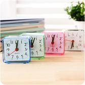 可愛創意時尚迷你桌面學生糖果色臥室床頭鐘表電子鬧鐘時鐘小鬧鐘WY 父親節禮物