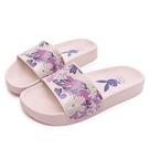 PLAYBOY 花卉秘境 寬帶印刷休閒拖鞋-粉(YT602)