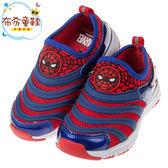 《布布童鞋》Marvel蜘蛛人衝擊光速紅藍色兒童輕量電燈運動鞋(16~20公分) [ B8H112A ]