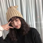秋冬加絨加厚毛線帽可愛帽子女冬天保暖耳朵正韓後時尚月子冬季 星期八