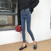 2019新款韓版複古百搭流蘇牛仔褲女高腰顯瘦緊身小腳鉛筆褲長褲潮