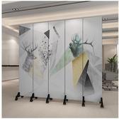 屏風 屏風隔斷牆裝飾客廳酒店折疊行動辦公室簡約現代雙面l折屏 小天後