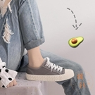 餅乾鞋帆布鞋女小白布鞋百搭學生鞋板鞋低幫 休閒鞋【橘社小鎮】