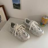 黃洛林ins運動鞋 新款春季小白鞋子網紅女款百搭休閒老爹鞋潮 安妮塔小鋪