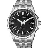 CITIZEN 星辰 限量光動能萬年曆手錶-黑x銀/41mm BX1001-89E