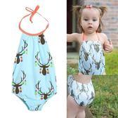 可愛寶寶兒童比基尼泳裝 韓版時尚女童游 -十週年店慶 優惠兩天