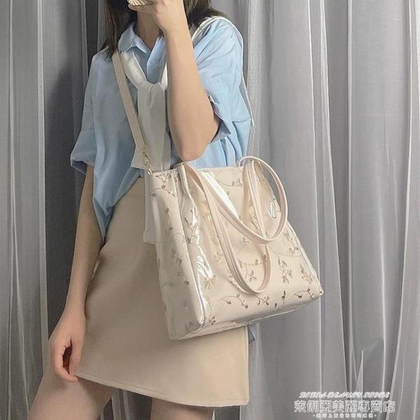 果凍包 包包女斜背包大容量側背包2021夏季新款百搭少女手提包果凍托特包 新品