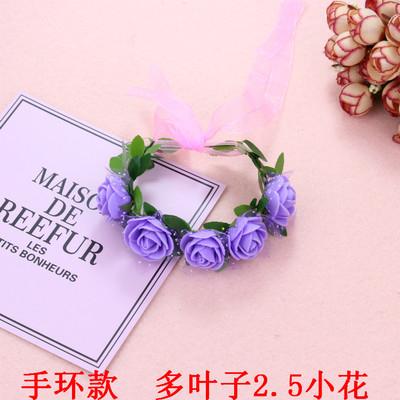 小花童伴娘頭飾韓國兒童節表演玫瑰花環女童公主髮飾配飾髮箍髮帶─預購CH5771