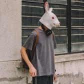 兔子先森男裝2019春季新款純色打底衫男上衣潮純棉圓領短袖T恤男 後街五號