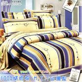 鋪棉床包 100%精梳棉 全舖棉床包兩用被四件組 雙人加大6*6.2尺 Best寢飾 9708
