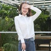 早秋季白襯衫女長袖春裝亞麻襯衣寬鬆慵懶棉麻上衣【雙11大促下單五折】