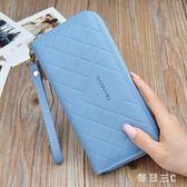 女士錢包長款新款拉鏈流蘇簡約時尚大容量手拿包軟皮手機包潮 zm5537【每日三C】