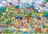 幸福小鎮成人兒童開心小鎮1500片拼圖【不二雜貨】