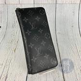 BRAND楓月 LOUIS VUITTON LV 路易威登 M62295 經典 黑色 原花 直式 拉鏈 長夾 錢包 錢夾