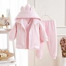 限定款鋪棉套裝 嬰兒衣服棉質加厚男女寶寶三件組裝0-3個6月新生兒鋪棉外出服秋冬