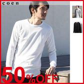 男生T恤 華夫格圓領衫 排汗衣 機能衣 日本品牌【coen】