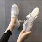 護士鞋女軟底2021春季新款防滑平底孕婦豆豆鞋懶人一腳蹬小白鞋女 快速出貨