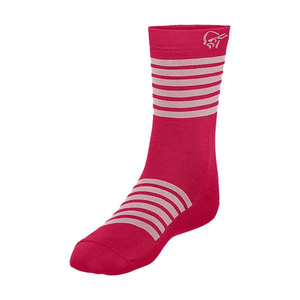 Norrona 老人頭 falketind Light Weight Merino Socks 美麗諾羊毛健行襪 花旦紅
