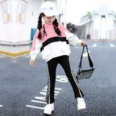 女童秋裝2018新款洋氣時髦套裝小女孩運動中大童兒童兩件套潮童裝