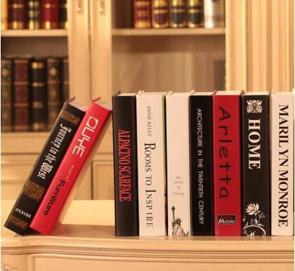 幸福居*歐米娜 現代C 仿真書假書裝飾書 攝影道具模型假書 書盒裝飾品(10本裝款式請備註)