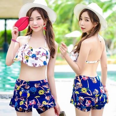 泳衣(兩件式)-比基尼-性感露背清新俏皮女泳裝-2色73mb10【時尚巴黎】