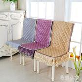 坐墊靠背一體墊連體椅墊家用辦公室靠背板凳套夾棉餐桌椅套大花邊 ys6416『毛菇小象』