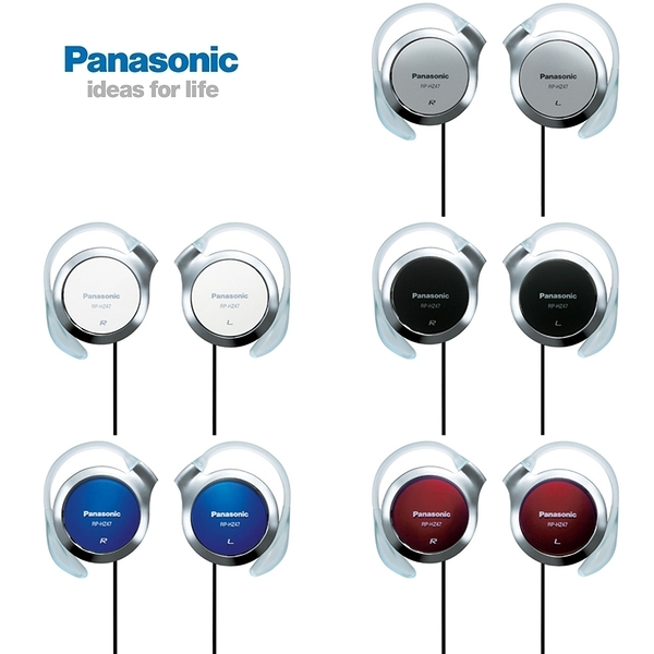 又敗家@Panasonic超薄耳機立體聲RP-HZ47耳掛式耳機適蘋果Sony索尼創見MP3隨身聽手機耳機stereo掛耳式