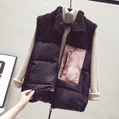 羽絨馬甲羽絨棉馬甲女短款秋冬季新款韓版羊羔毛背心馬夾絨坎肩外套潮 新品