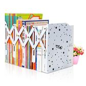 大號伸縮書立架 可摺疊三欄學生創意卡通書夾書靠書立書擋  9