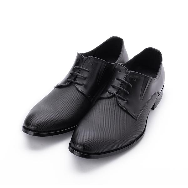 BABYLON 真皮素面壓紋紳士皮鞋 黑 14030 男鞋 鞋全家福