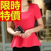 OL套裝(短袖裙裝)-商務面試有型韓版職業制服3色54h34【巴黎精品】