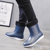 男士雨靴 潮流雨靴男士防滑防水鞋時尚雨鞋水靴男中筒成人季加 母親節特惠