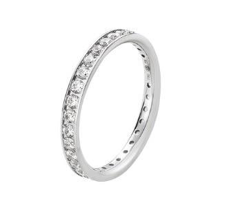 喬治傑生(GEORG JENSEN)-Classique白k鑽戒指51號 0.55ct