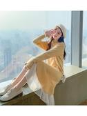 連身裙 很仙的毛衣女套頭秋冬季新款韓版寬鬆慵懶風中長款針織洋裝 莎瓦迪卡