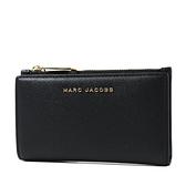 美國正品 MARC JACOBS 魚子醬皮革釦式證件/零錢包-黑色【現貨】