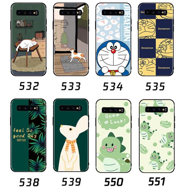 三星 S10 Plus S10e Note9 Note8 手機殼 可愛卡通保護殼 全包邊磨砂防滑軟殼 浮雕防滑 小清新超薄