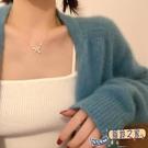 蝴蝶結項鍊女輕奢小眾設計感鎖骨鍊網紅頸鍊配飾氣質【風鈴之家】