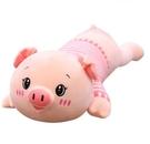 豬公仔布娃娃床上長條抱枕頭小豬 cf 全館免運