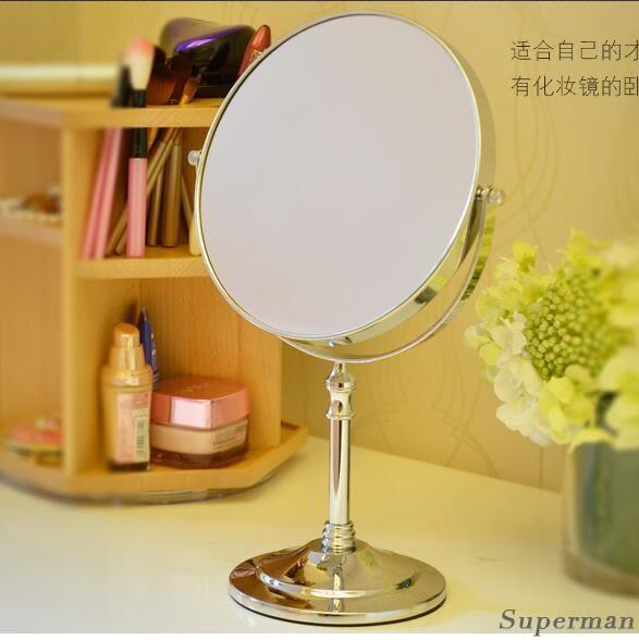梳妝鏡 台式化妝鏡歐式鏡子雙面梳妝鏡結婚公主鏡 日禮物【聖誕節快速出貨八折】