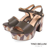 Tino Bellini 巴西進口幾何形象色塊藝術高跟涼鞋 _ 深灰 A83037 歐洲進口款