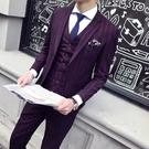 FINDSENSE H1男士 修身 條紋 彈力面料 西服 套裝 複古 紳士 經典
